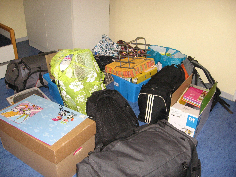 Voila tous les bagages dont je parlais